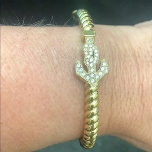 Coach anchor pave bracelet
